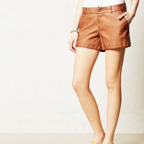 Quilted Vegan Leather Shorts
