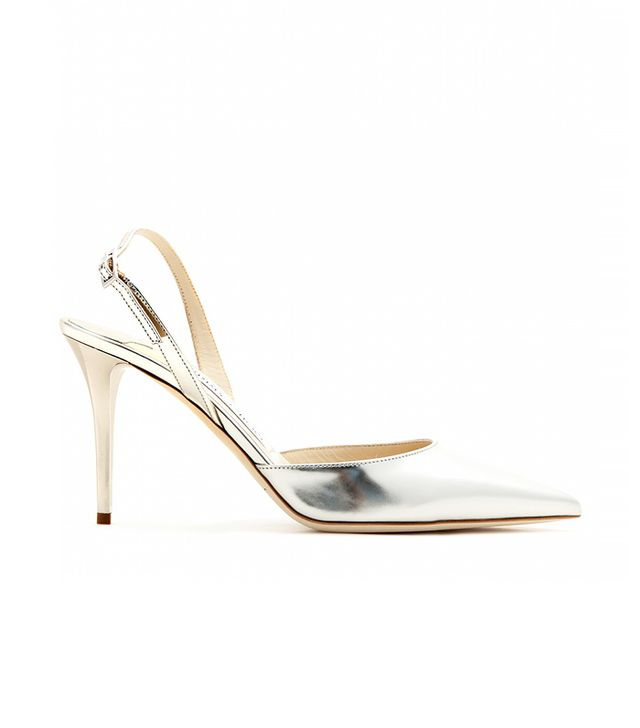 Jimmy Choo Tilly Metallic-Leather Pumps