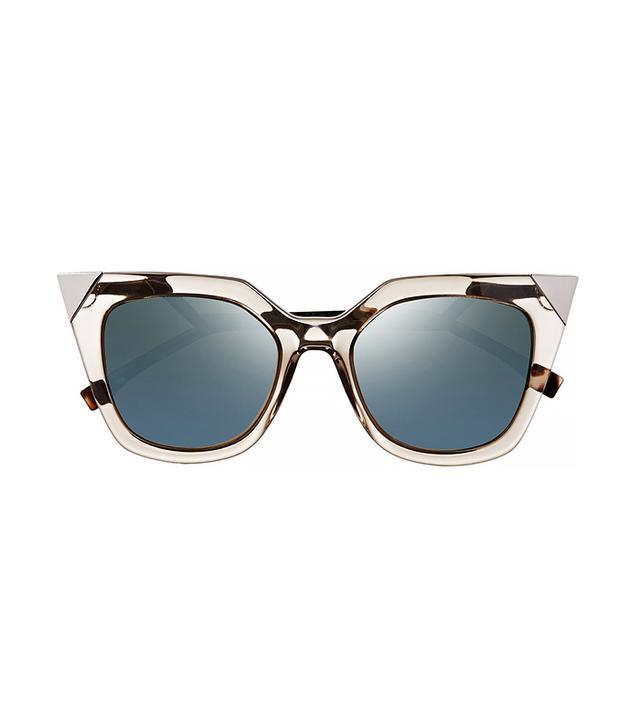 Fendi Embellished Cat Eye Acetate Mirrored Sunglasses
