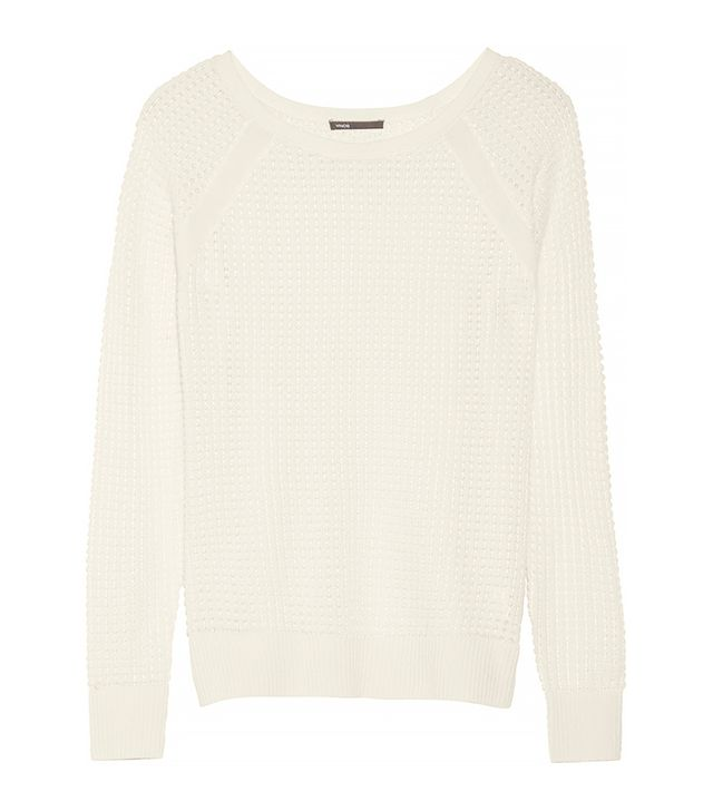 Vince Open-Knit Cashmere-Blend Sweater