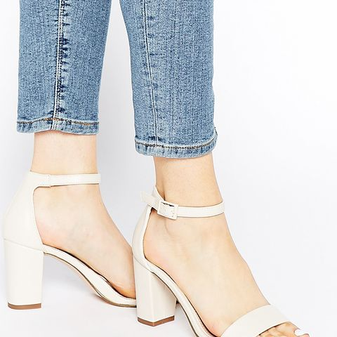Paige White Heeled Sandals