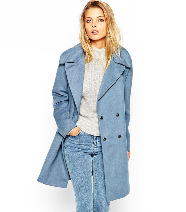 ASOS Trapeze Coat in Brushed Wool