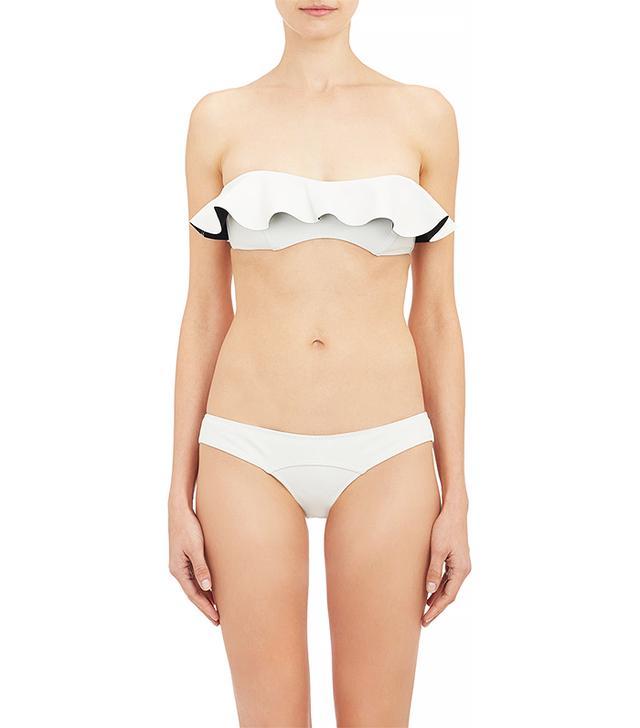 Lisa Marie Fernandez Natalie Flounce Bandeau Bikini Set