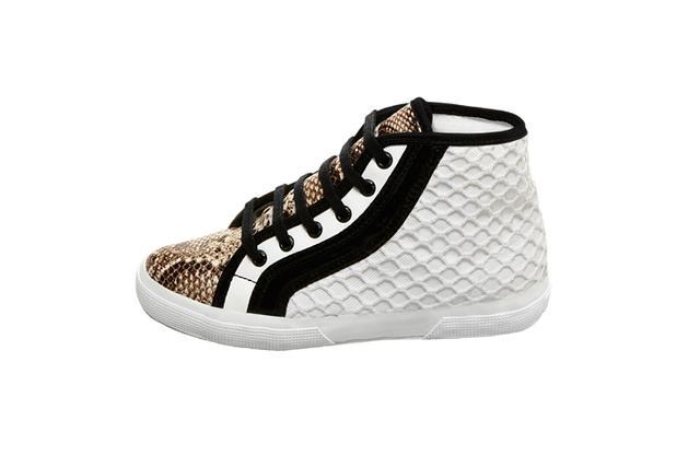 Rodarte Superga Flat Lace Up High Top Sneakers