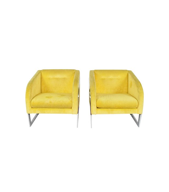 1stdibs Pair Of Lounge Chairs Attributed to Milo Baughman