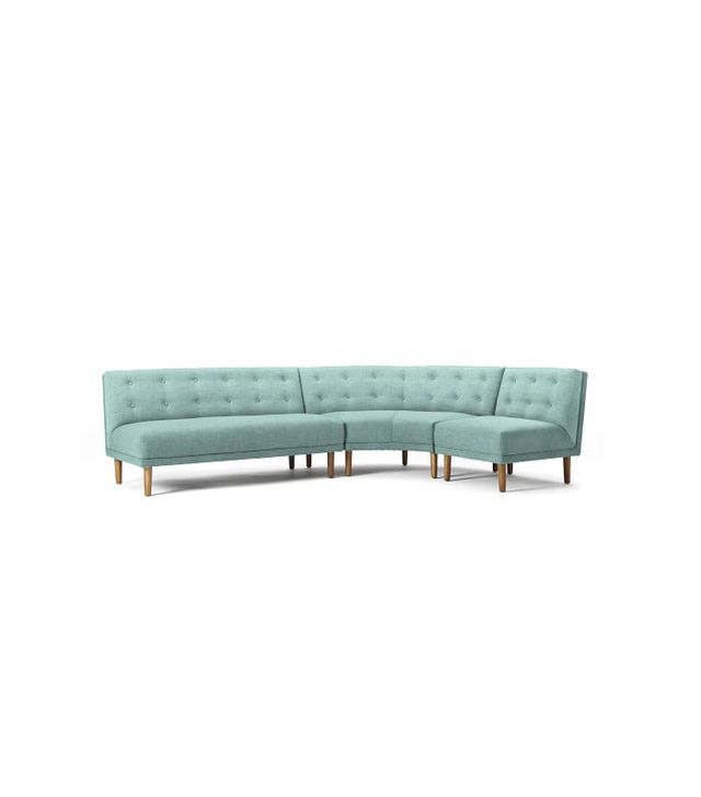West Elm Rounded Retro Sectional Set