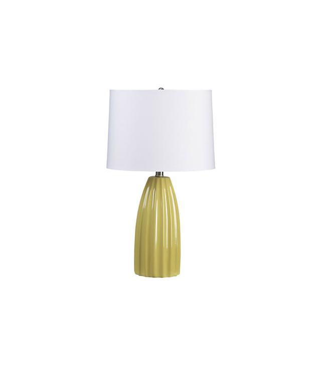 Crate & Barrel Ella Yellow Table Lamp