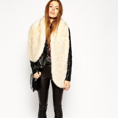 Faux Fur Oversized Long Collar