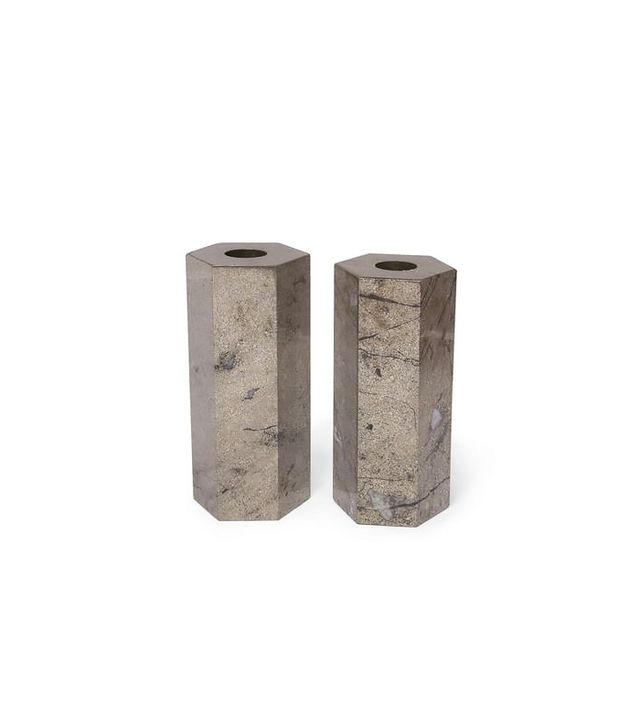 Kelly Wearstler Covet Candle Holders in Pyrite