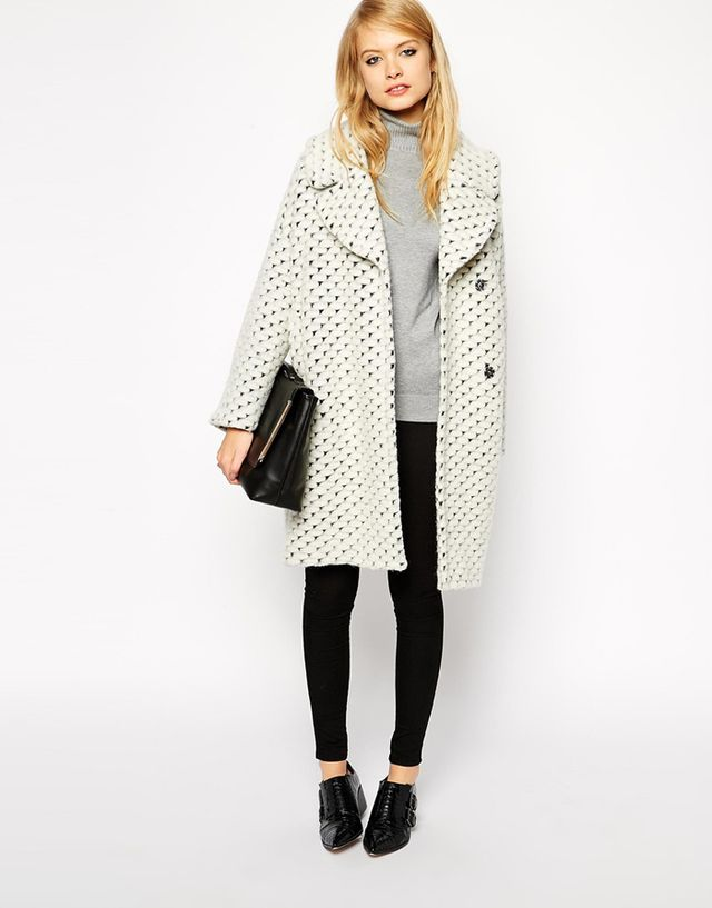 ASOS Textured Coat With Cocoon Fit