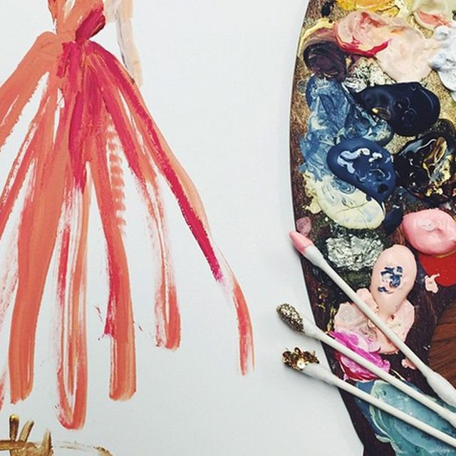 You Have to See These Fashion Illustrations Created With Q-Tips