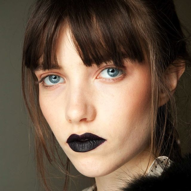 Bold Brows And Black Lipstick At Giles F/W 2015
