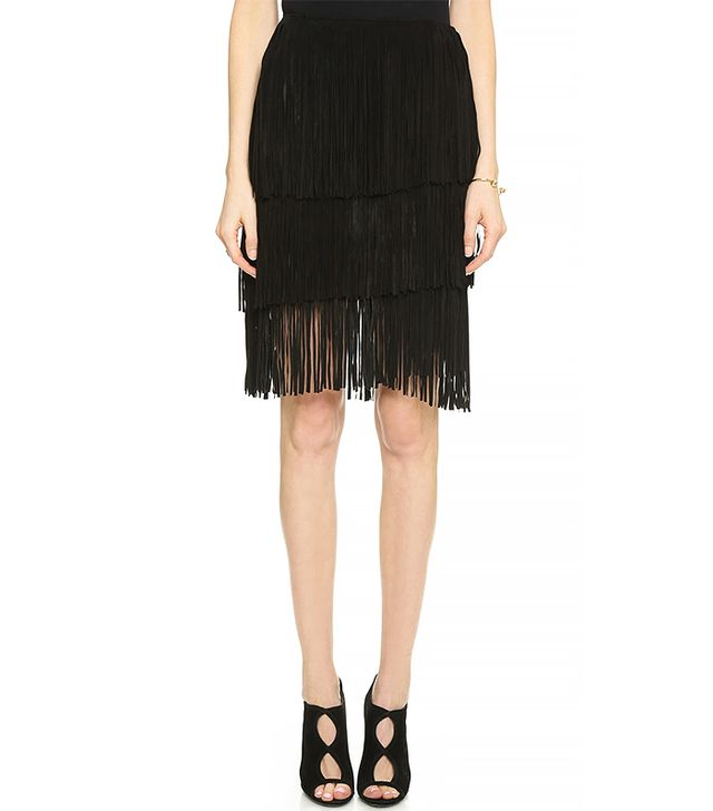 One by Lamarque Frida Fringed Skirt