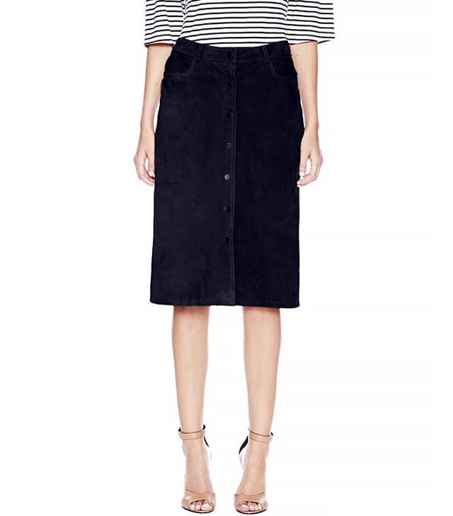 Theory Pemma L Skirt in Classic Suede
