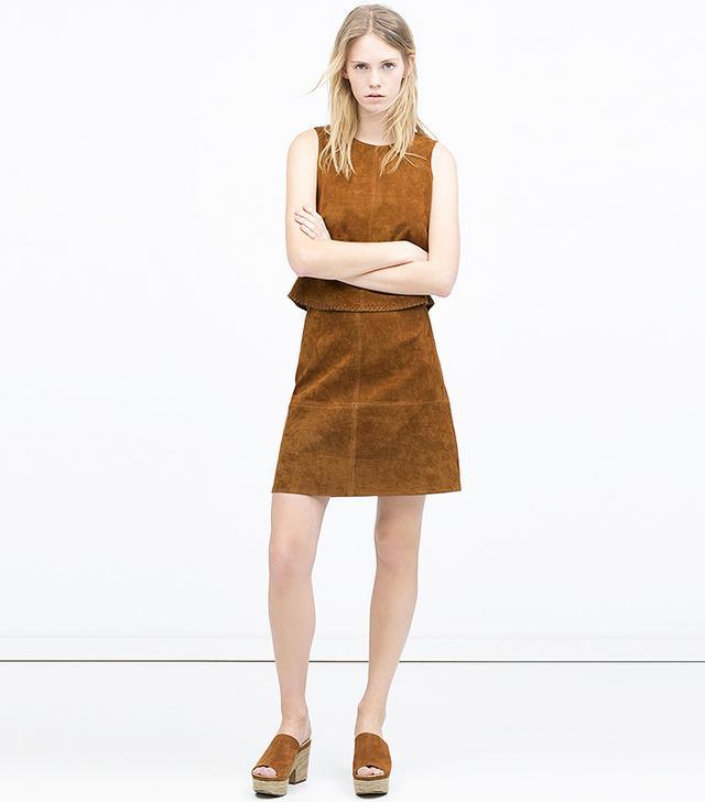Zara Seamed Skirt