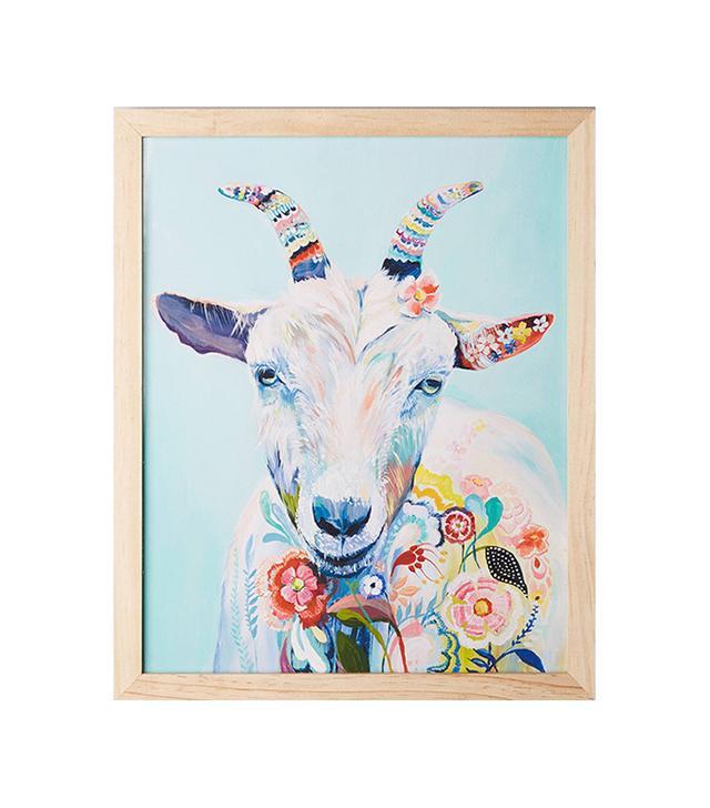 Mooreland Wall Art, Goat by Starla Michelle Halfmann