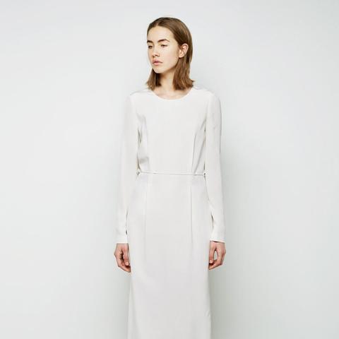 Back Drape Column Dress