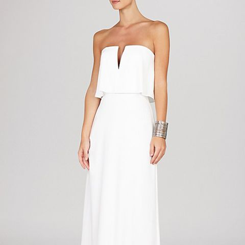 Alyse Strapless Notched Blouson Gown
