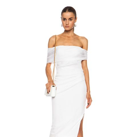 Exclusive Draped Silk Georgette Dress