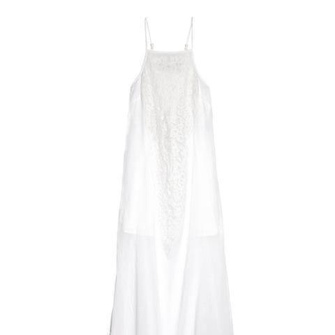 Teca Lace-Paneled Cotton-Voile Maxi Dress