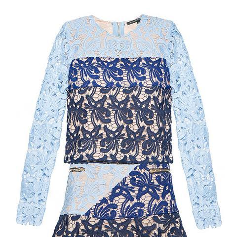 Gigi Blue Lace Dress Set