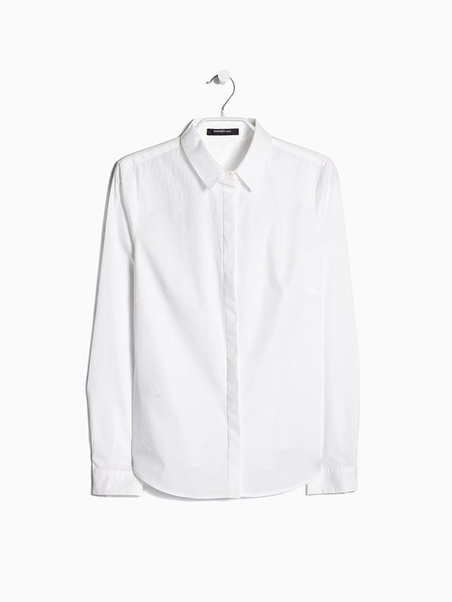 Mango Fitted Cotton Shirt