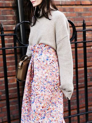 How to Pair a Turtleneck With a High-Waisted Skirt