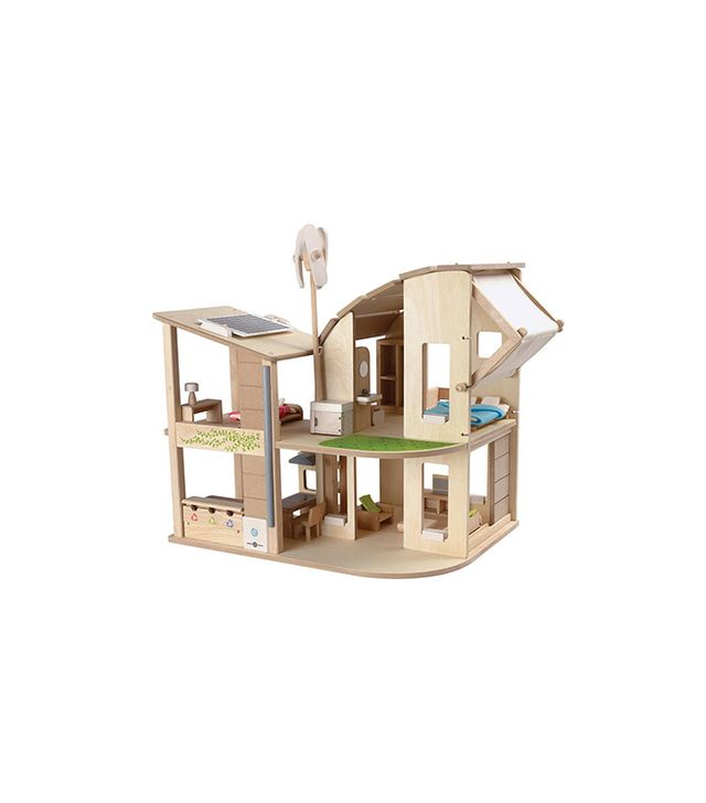 Hape Green Dollhouse With Furniture