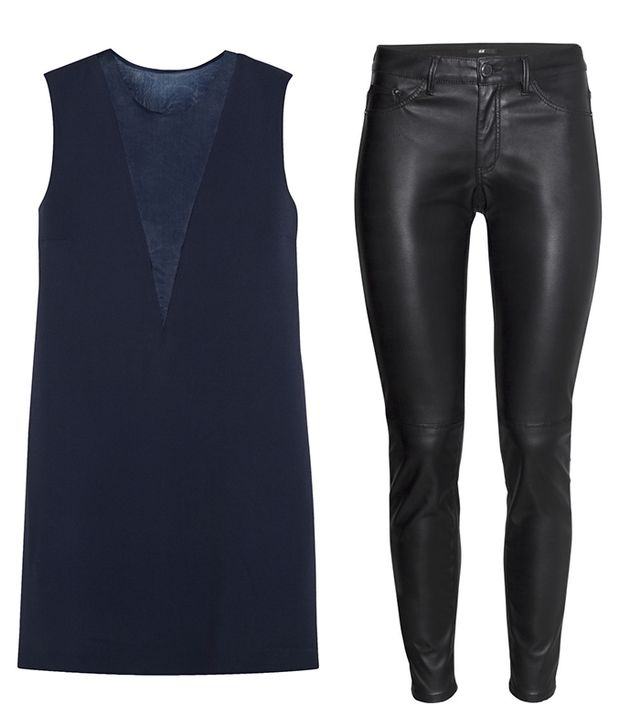 Top: Joseph Finland Organza-Paneled Stretch-Crepe Mini Dress ($525)