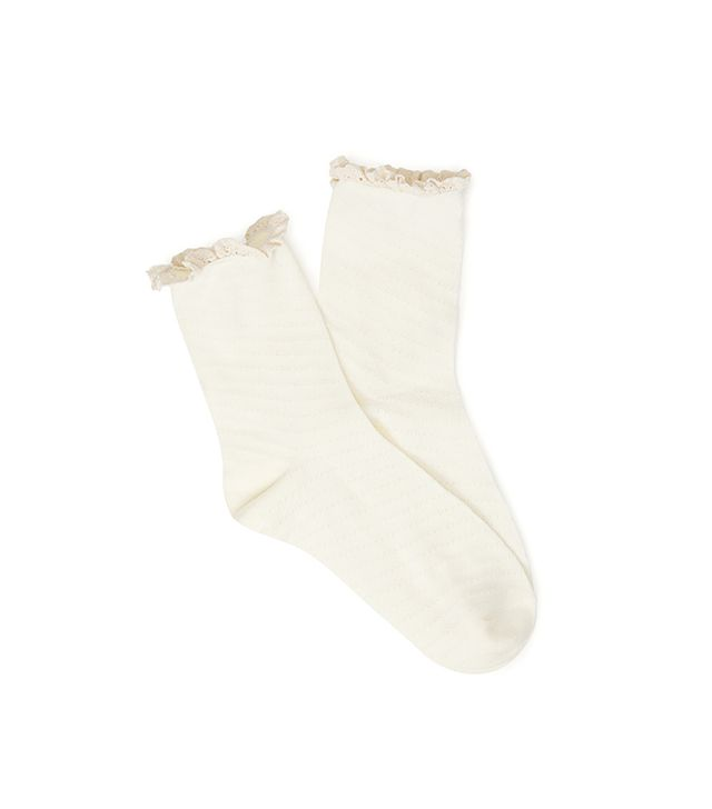 Forever 21 Crochet-Trimmed Socks