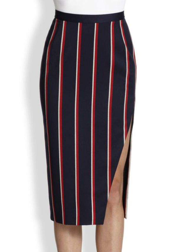 Altuzarra Faun Slit Stripe Skirt