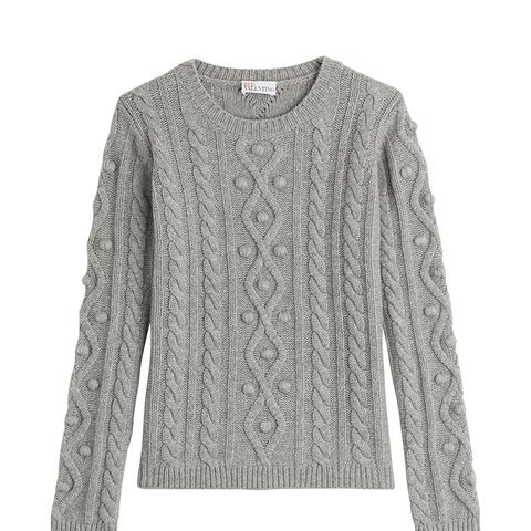 Wool-Cashmere Cable Knit Pullover
