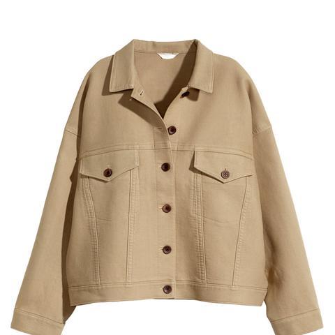 Wide-Cut Twill Jacket