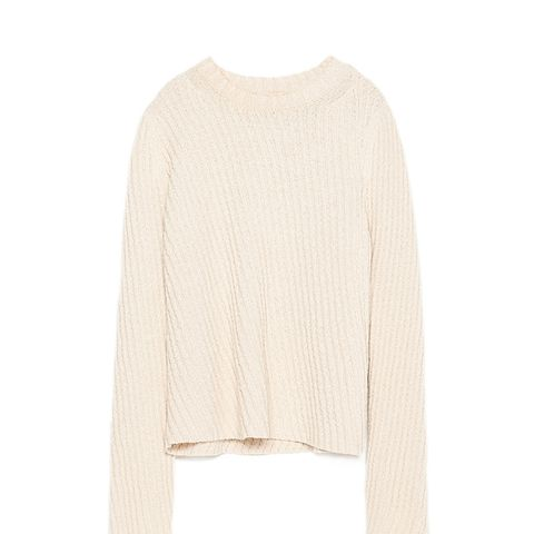 Diagonal Knit Sweater