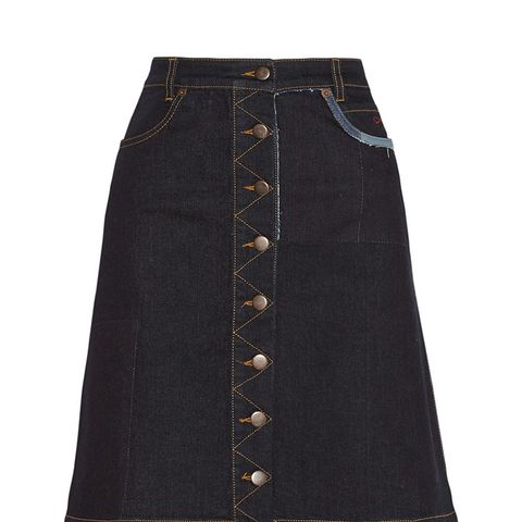 Penelope Stretch-Denim Skirt