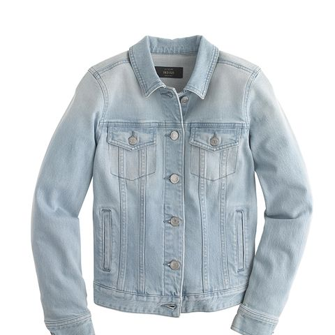 Stretch Denim Jacket in Light Wash