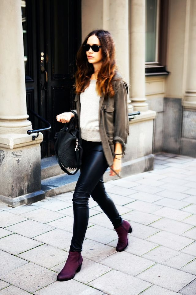 5 Looks That Put Burgundy Boots On Our Must Have List