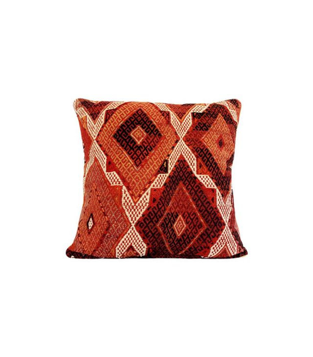 Busra Carpet and Gifts Kilim Pillow w/ Geometric Cicim