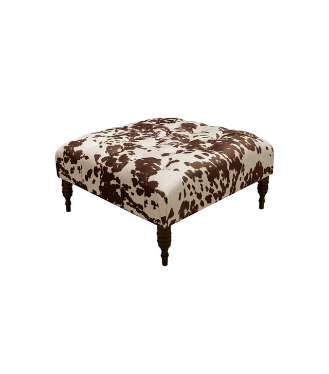 One Kings Lane Elliot Tufted Cocktail Ottoman, Brown
