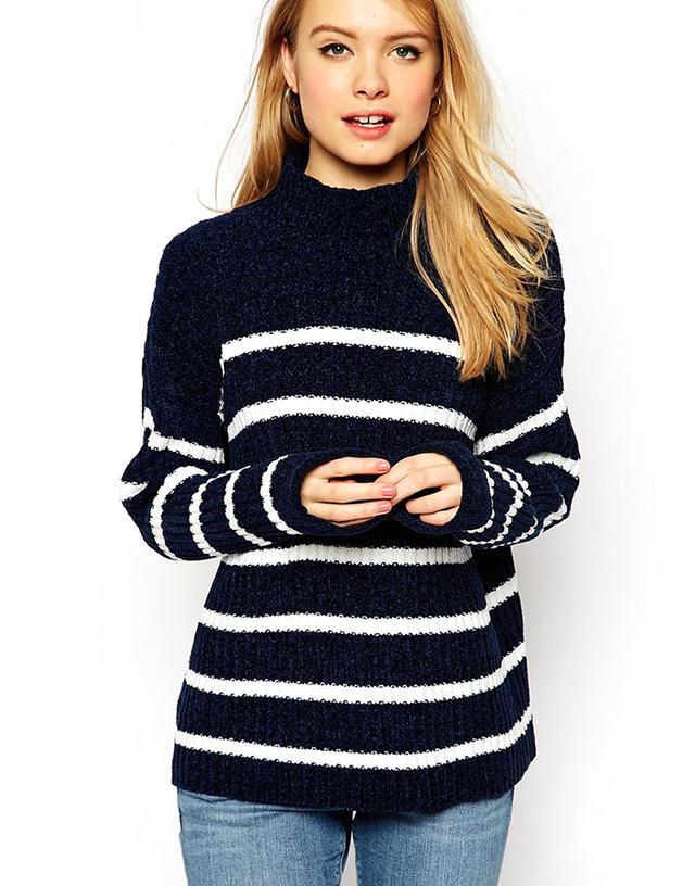 ASOS High-Neck Chenille Sweater