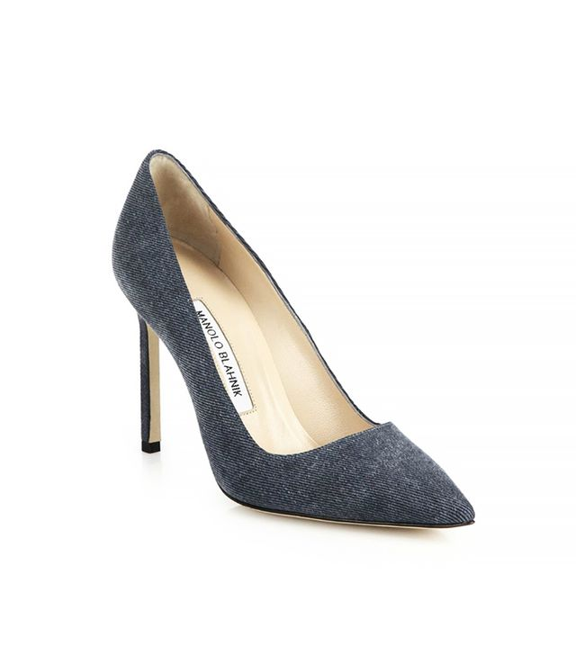Manolo Blahnik Denim Pumps