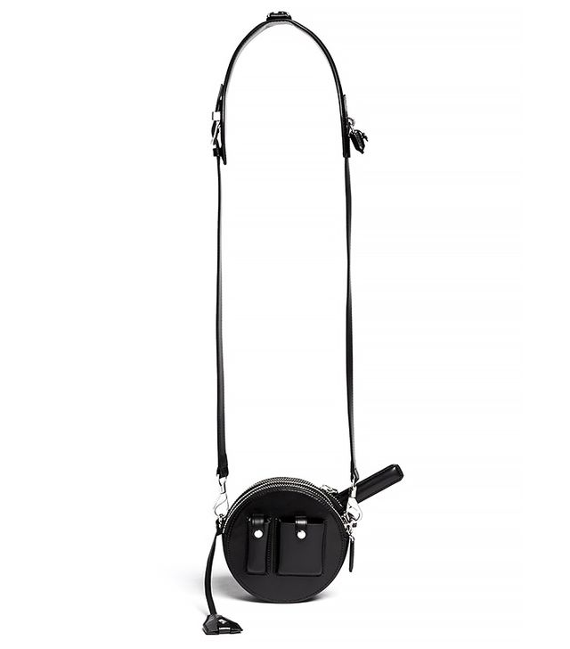Alexander Wang Runway Canteen Round Leather Shoulder Bag