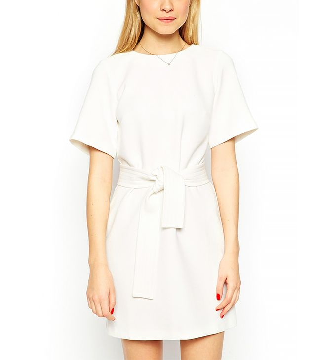 ASOS Petite Shift Dress with Obi Belt