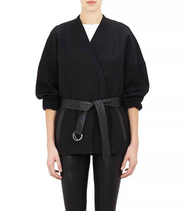 Helmut Lang Mixed-Fabric Belted Rafter Jacket