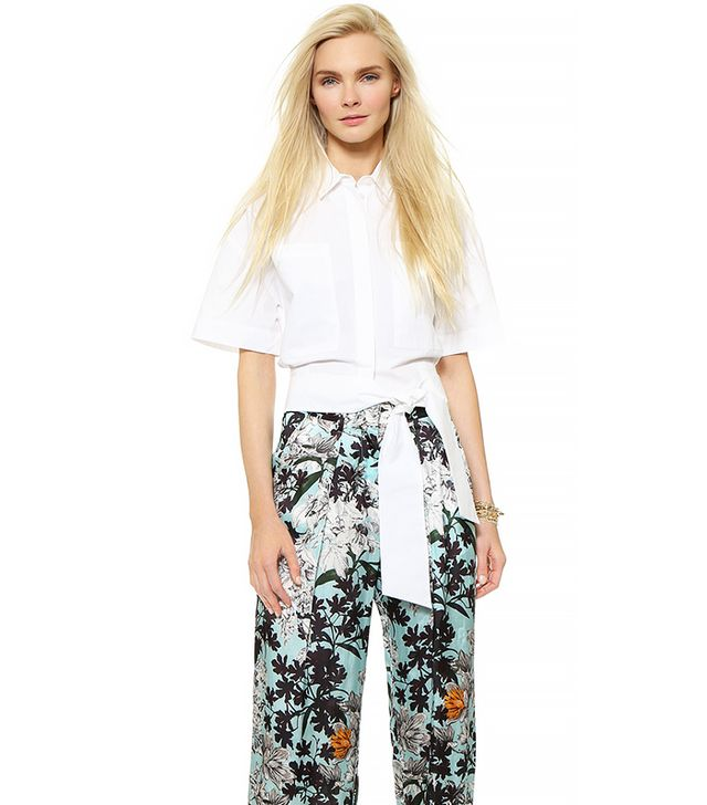 MSGM Cropped Wrap Blouse