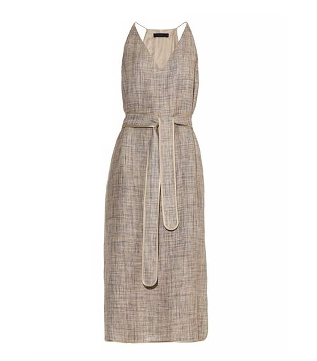 The Row Nahel Linen Belted Midi Dress
