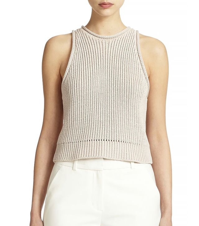 3.1 Philip Lim Ribbed Sleeveless Pullover