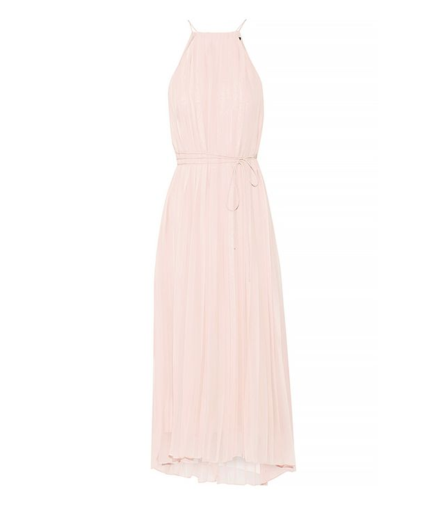 Tibi Simone Pleated Silk-Chiffon Dress