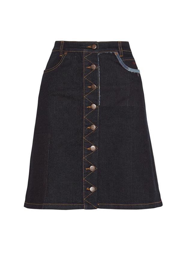 Preen Line Penelope Stretch-Denim Skirt