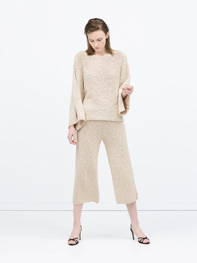 Zara Sweater With Slit Sleeves